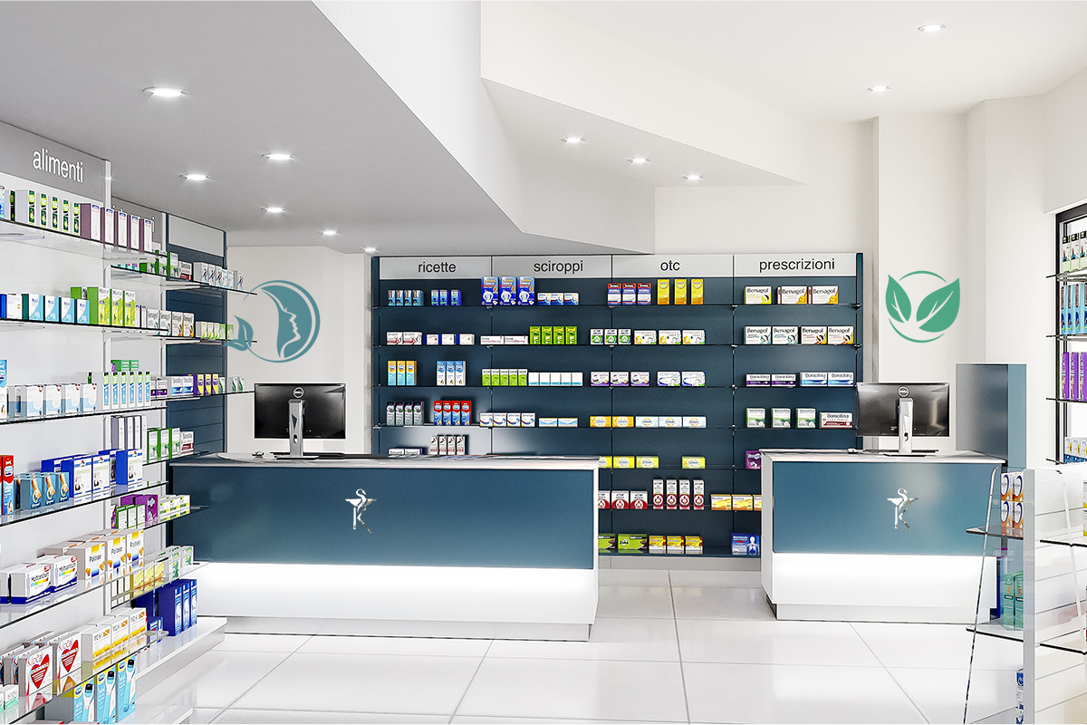 Arredamento Farmacia Amoretti Dott. Crupi