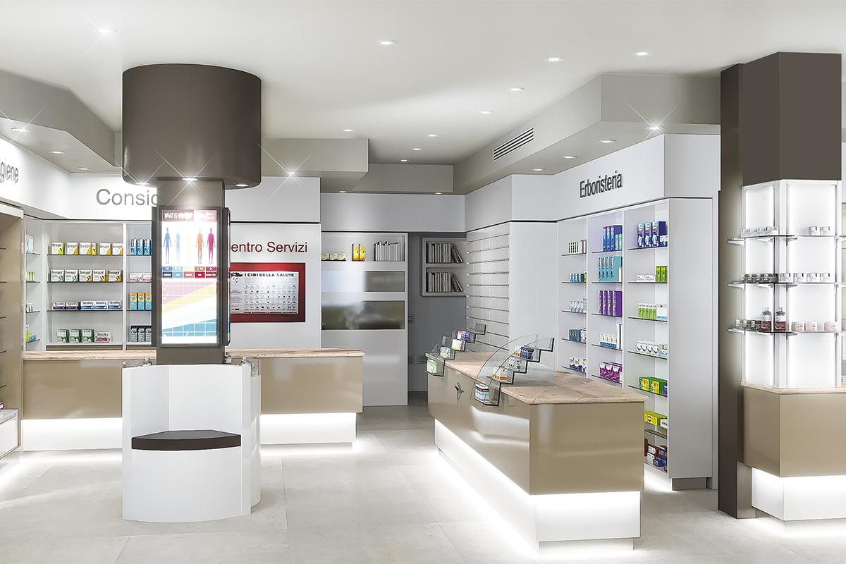 Arredamento Farmacia Grimaldi Salerno