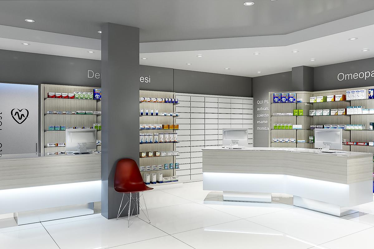 Nuova Apertura Arredo Farmacia Delle Colline Roma