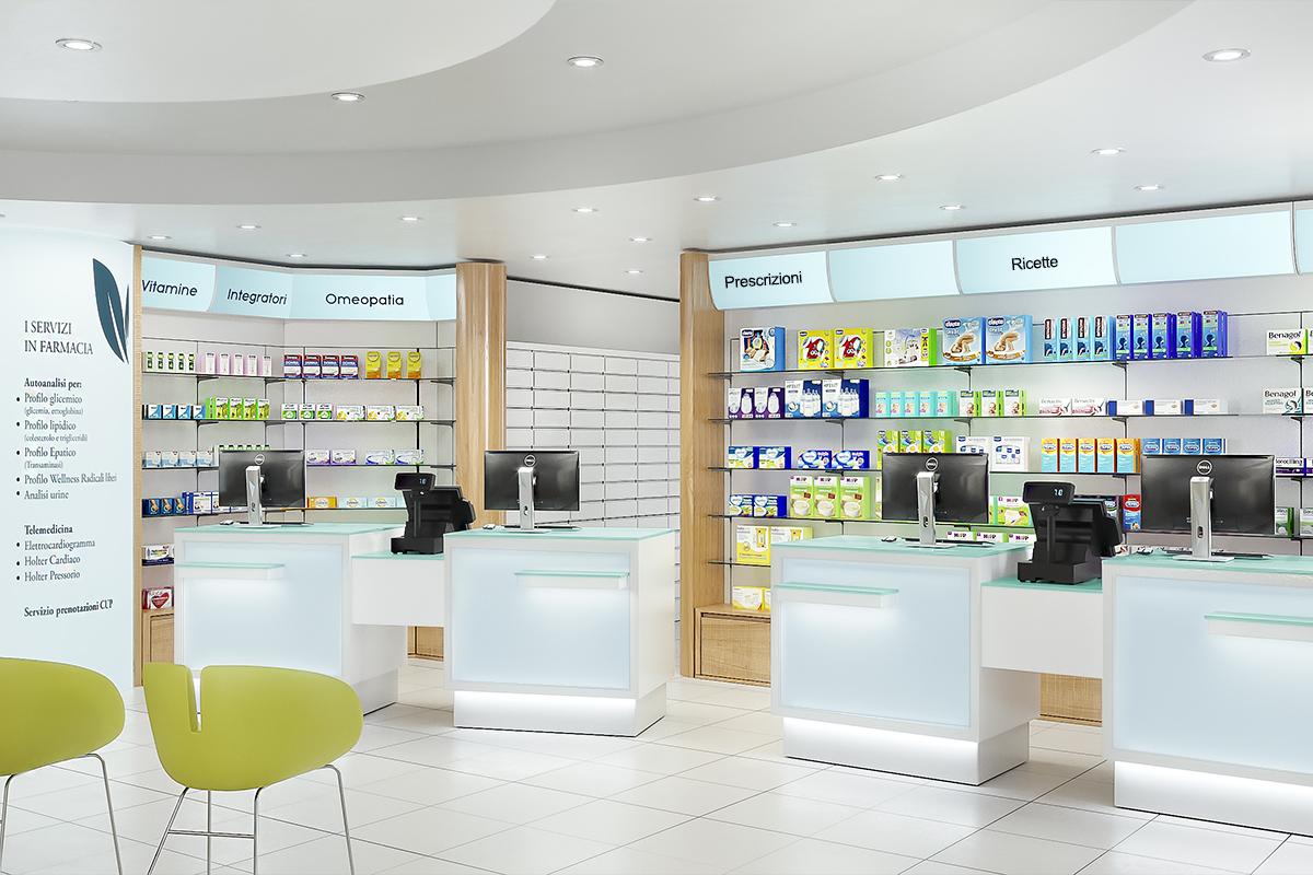 Progetto Rinnovo Arredamento Farmacia Bolzano