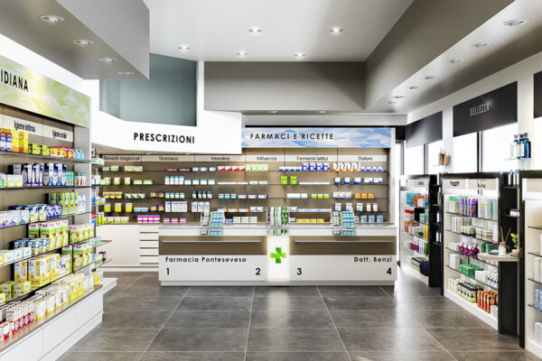 Progetto Ristrutturazione Farmacia Milano