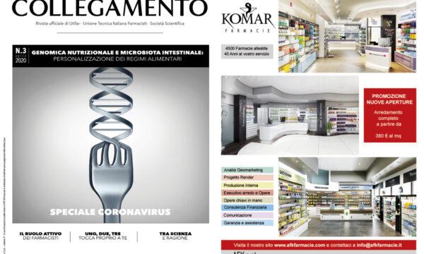 Afk-Komar Arredamenti Farmacie sul numero di Maggio di Nuovo Collegamento