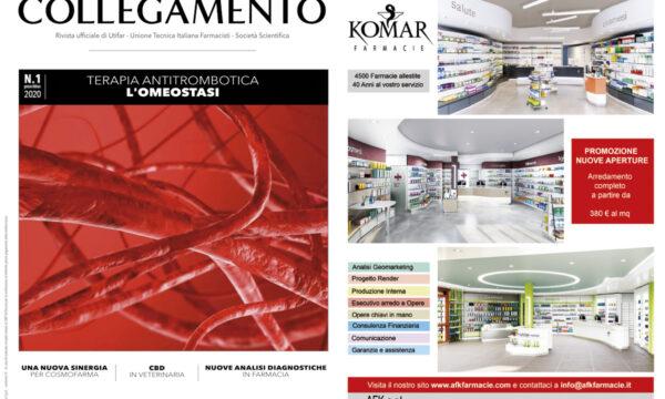 Afk-Komar Arredamenti Farmacie sul numero di Gennaio di Nuovo Collegamento